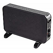 Europasonic ES1282B Plastic Construction Convector Heater, 2000W - Black