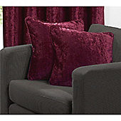 Velvetine 1 pair Cushion Covers - Red