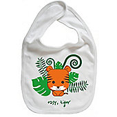 Dirty Fingers Easy Tiger Baby Cute Bib White