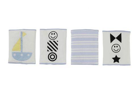 By Carla Lazy Days Stripe Bumppies (Set of 4)