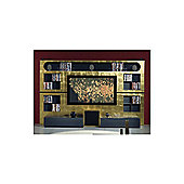 Triskom Metal Wall Entertainment Center TV Stand for LCD / Plasmas - Gold Foil/Metal Titanio