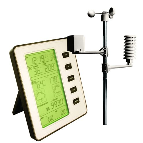 Professional Wireless Weather Centre Alarm Station LCD
