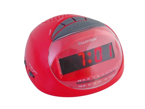 buy lloytron j2002rd sonata radio alarm clock red from our clocks range tesco. Black Bedroom Furniture Sets. Home Design Ideas