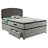 Sealy Pillowtop  2 Drawer Divan Charcoal