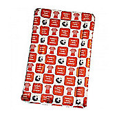 Babywise Baby Changing Mat - Daddy's Little Dribbler (Football Red)