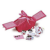 Bigjigs Toys BJ607 Pink Basket Tea Set