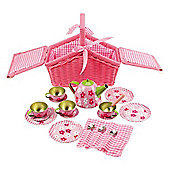 Bigjigs Toys Pink Basket Tea Set
