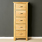 London Oak Tallboy Chest - Light Oak