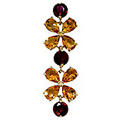 QP Jewellers 8.5in Garnet & Citrine Blossom Bracelet in 14K Gold