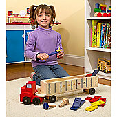 Melissa and Doug Wooden Big Rig Truck Building Set for 3 years+