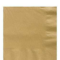 Gold Luncheon Napkins - 3ply Paper