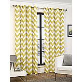 Chloe Ready Made Curtains Pair, 66 x 72 Ochre Colour, Modern Designer Look Eyelet curtains