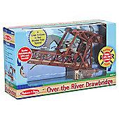 Melissa & Doug Over the River Drawbridge Wooden Trains