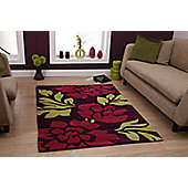 Oriental Carpets & Rugs Hong Kong 33L Purple/Green Rug - 90cm x 150cm