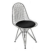 DKR Black Seat Dining Chair