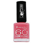 Rimmel 60 Secondnail Polish Rose Libertine
