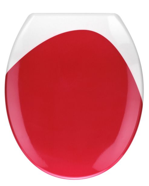 Wenko Wave Toilet Seat - Red