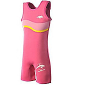 Konfidence Girls Warma Wetsuit Pink Wave 6-7 Years