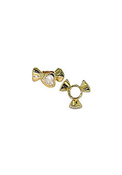 Chrysalis Gold CZ Bow Spacer