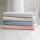 2x Cot Bed Jersey Fitted Sheets 140cm x 70cm 1x Cream & 1x Blue