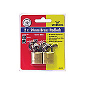 Sterling Bpl222 Padlock Brass 20Mm X2
