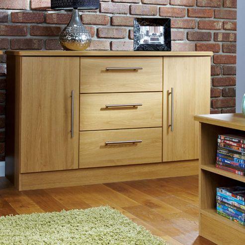 Welcome Furniture Living Room 2 Door / 3 Drawer Unit - Black Gloss