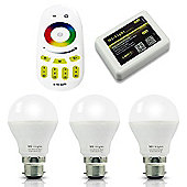 MiLight B22 6W RGB Smart Light Starter Kit with Bridge and Remote - RGB Colour with 16 Million Hues (iOs and Android)
