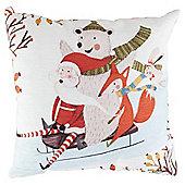 Pudding Town Santa and friends cushion