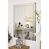Large Venetian Modern Big Bevelled Wall Mirror Bargain 3Ft10 X 3Ft 117Cm X 91Cm