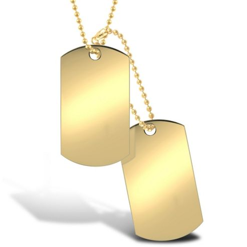 Buy Jewelco London 9ct Solid Gold hand-made military style ...