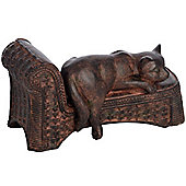Lazy Cat Decorative Ornament - Bronze / Brown