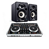 Numark N4 DJ Controller & Alesis Elevate 5 Studio Monitors Bundle