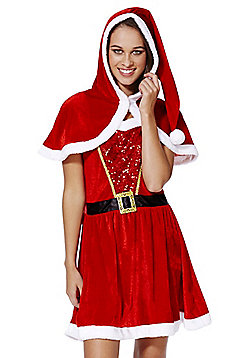 F&F Mrs Santa Dress-Up Costume - Red