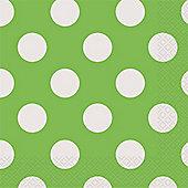 Green Polka Dot Napkins - 2ply