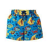 Mothercare Baby Boy's All Over Fish Print Swim Shorts Size 6-9 months