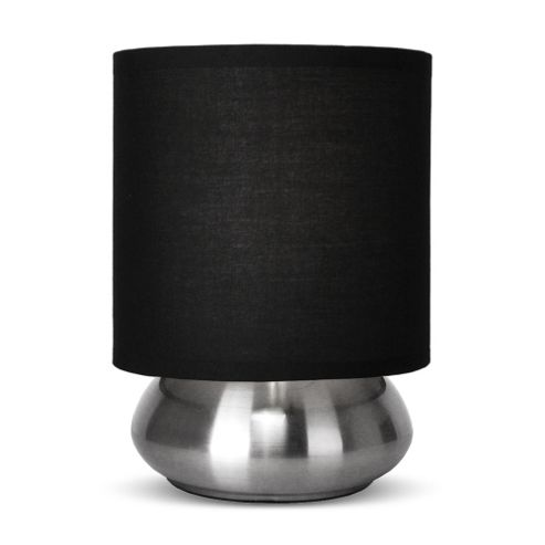 Buy Brushed Chrome Touch Table Lamp Amp Black From Our Table