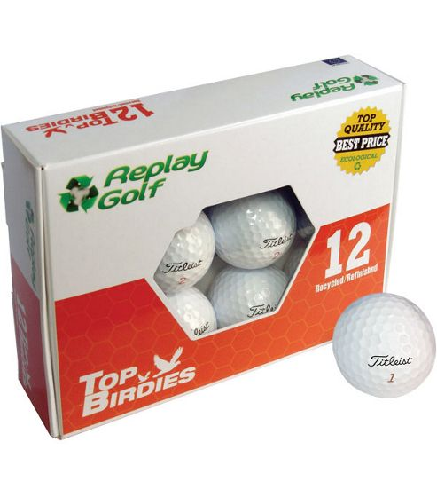 Replay Mens Grade A Refurbished Titleist NXT Tour Golf Balls in White