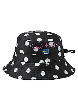 Kozi Kidz Regnhatt Rain Hat Black Dots Small