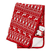 B Baby Christmas Blanket with Teddy