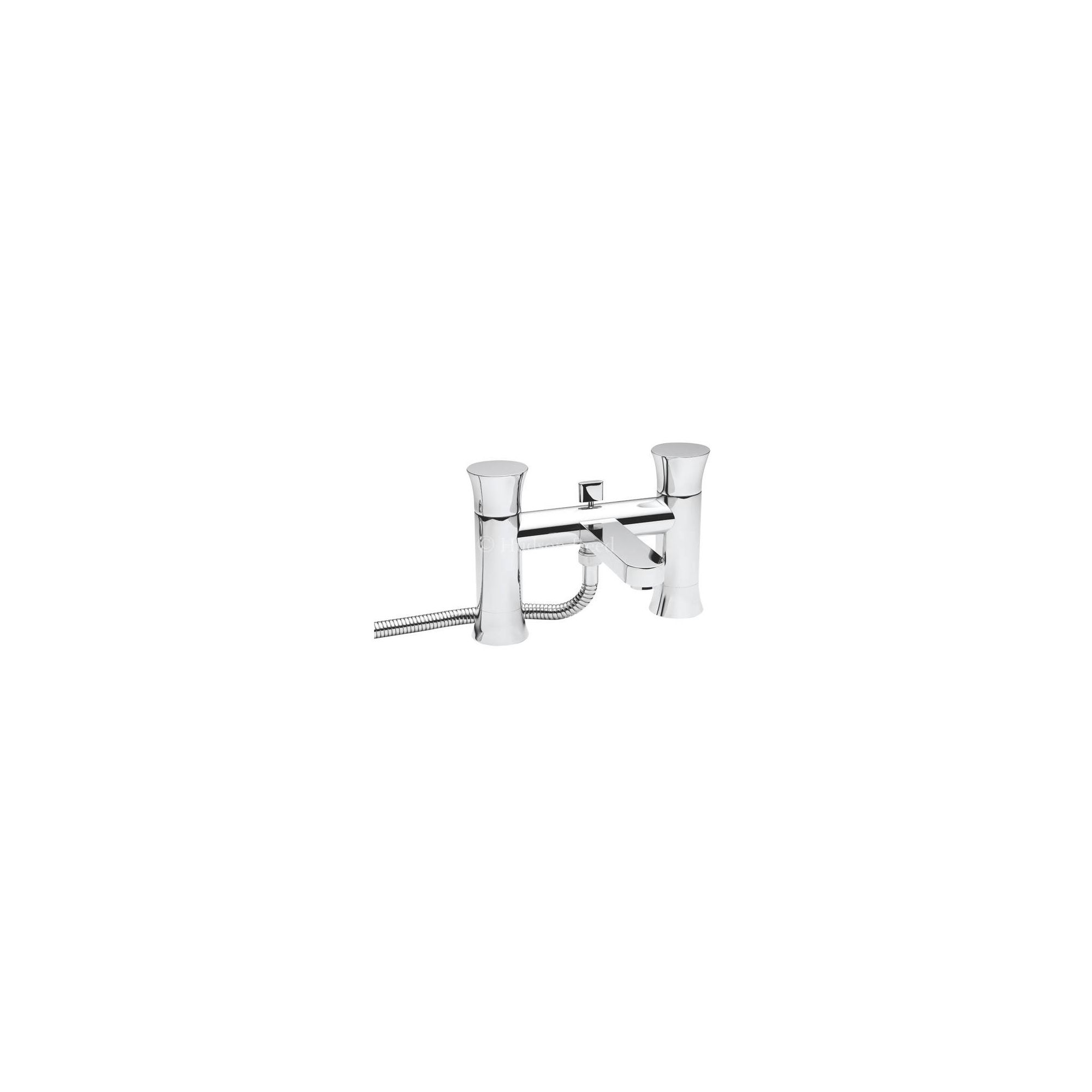 Hudson Reed Quill Pillar Mounted Bath Shower Mixer Tap with Shower Kit and Wall Bracket at Tesco Direct