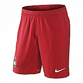 2012-13 Inter Milan Away Nike Shorts (Red) - Kids - Red