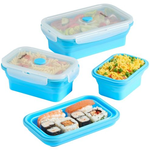 buy vonshef collapsible silicone lunch box set from our. Black Bedroom Furniture Sets. Home Design Ideas