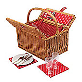 KitchenCraft Coolmovers 2 Person Secret Garden Picnic Hamper