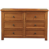 Sweet Dreams Curlew 6 Drawer Chest - Oak