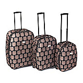 4 Piece Eva Owl Print Luggage Set