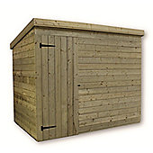 10ft x 7ft Windowless Pressure Treated T&G Pent Shed + Single Door
