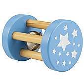 Bigjigs Toys BB050 Mini Roll-Rattle (Blue)
