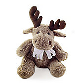 Soft Brown Cute Sitting Fluffy Brown Reindeer