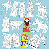 Children's Christmas Crafts Nativity Story Bunting