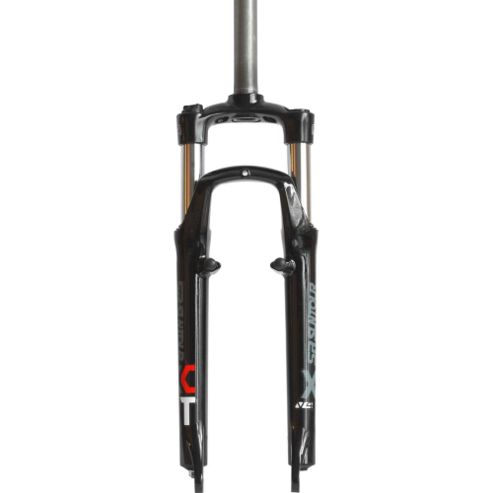 SR Suntour XCT-V4-V 26inch Suspension Fork: 255mm Ahead Black.
